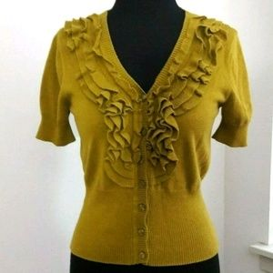 🌟3 For $25🌟 Ruffle Cardigan Short Sleeve Sweater